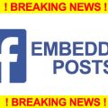 FB Embedded Posts